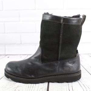 UGG Australia Wrangell Leather Shearling Boots 11
